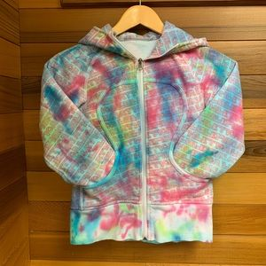 Lululemon Abstract Graffiti Tie Dye Scuba Hoodie